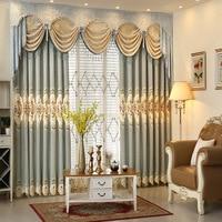 Роскошные шторы s для спальня Европейский пастырской синель гостиная тканые подзор Вышивка Тюль