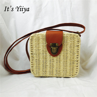 It S Yiya Hot 7 Colors Women Straw Handbags Lady Style Casual Candy Color Girls Cheap