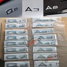 1 pçs carro-estilo novo auto emblema emblema para audi q2 q4 q6 q8 a1 a2 a3 a4 a5 a6 a7 a8 tronco do carro traseiro boot emblema acessórios decalque