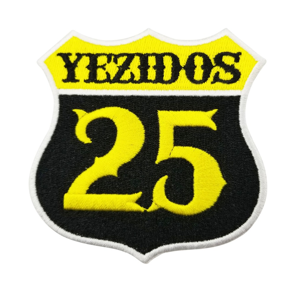 YEZIDOS Biker Motorcycle Vest Rider Embroidered Iron On Back of Jacket Patch White twill fabric Free Shipping DIY Eco-Friendly1 (4)