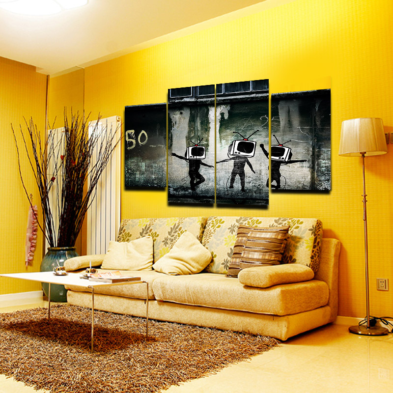 Attractive Banksy Wall Art Canvas Pattern - Art & Wall Decor ...