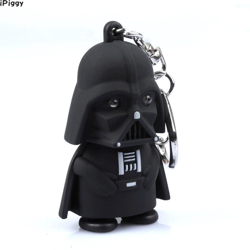 Initiatief Ipiggy Nieuwe Figuur Speelgoed De Kracht Wekt Led Zaklamp Geluiden Star Wars Sleutelhanger Darth Vader Anakin Skywalker Geschenken
