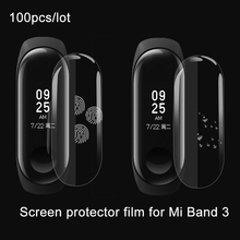 100pcs Mi Band Three Display screen Protector Movie for xiaomi miband Three Full Cowl Protecting Mushy TPU scratch resistant shield Movies