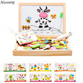 Niosung Modern Animal Drawing Writing Board Magnetic Puzzle Double Easel Sketchpad Toy kids Gift
