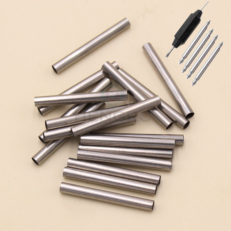 Watch Band Metal Stainless Steel Tube 20mm 22mm 24mm Watch Strap Accessories 4pcs/Set And Tool Spring Bar For Panerai 147 pcs portable professional watch repair tool kit set solid hammer spring bar remover watchmaker tools watch adjustment