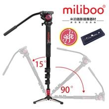 лучшая цена Miliboo MTT705A Aluminum Alloy Portable Monopod &Tripod For Professional Camcorder /Video/DSLR Stand.Half Price of Manfrotto