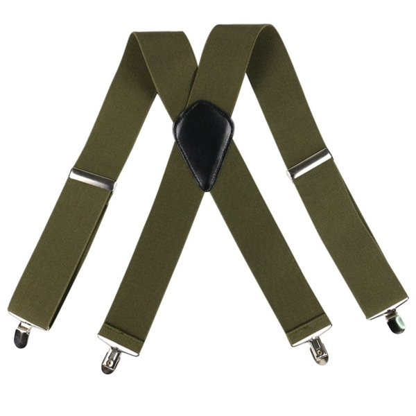Mens Braces Pejoye Adjustable Y Back Style Holdup Suspenders for Men with 4 Strong Metal Clips 4cm Wide Heavy Duty Elastic Pant Suspenders One Size Fits All