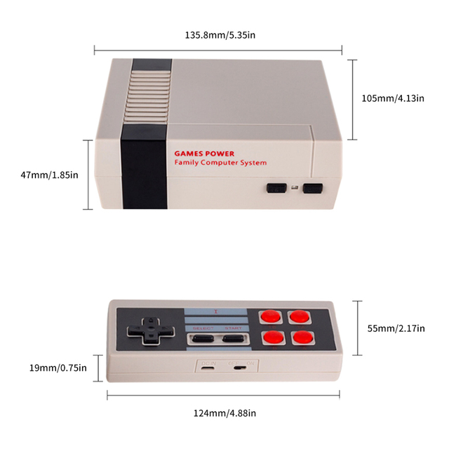 Wireless TV Game Console Mini Retro Video Gaming Player with Dual 2.4G Handheld Gamepad Built-in 300/557 Classic Games AV Port