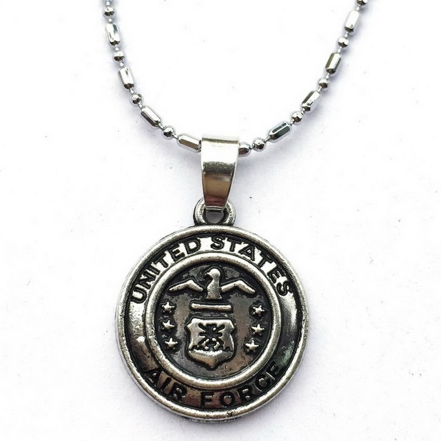 United states air force charm necklace silver usaf veteran soldiers united states air force charm necklace silver usaf veteran soldiers aim high military monogram jewelry aloadofball Choice Image