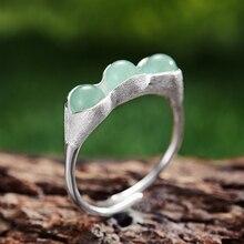 Kielo Sterling Silver Green Stones Rings