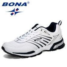 BONA 2019 Yeni Tasarımcı Erkek koşu ayakkabıları Spor Erkek Eğitmenler Açık Sepetleri Zapatos Corrientes spor ayakkabı Adam Rahat