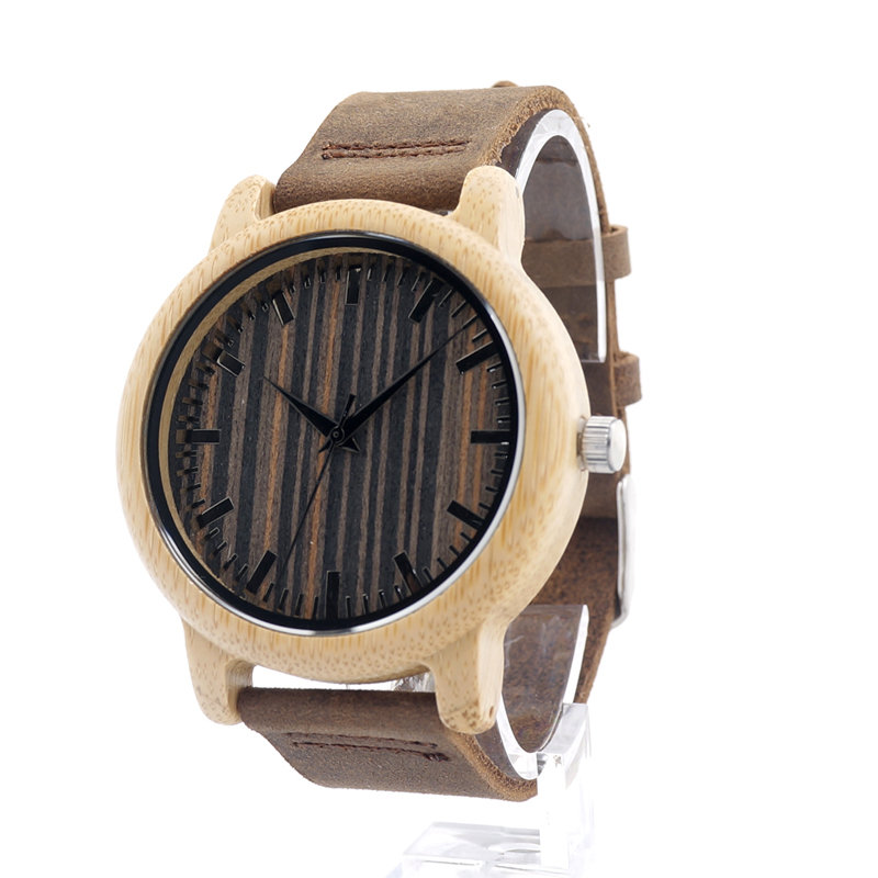 BOBO BIRD H08 Luxury Watch Men Bamboo Wood Quartz Wat $