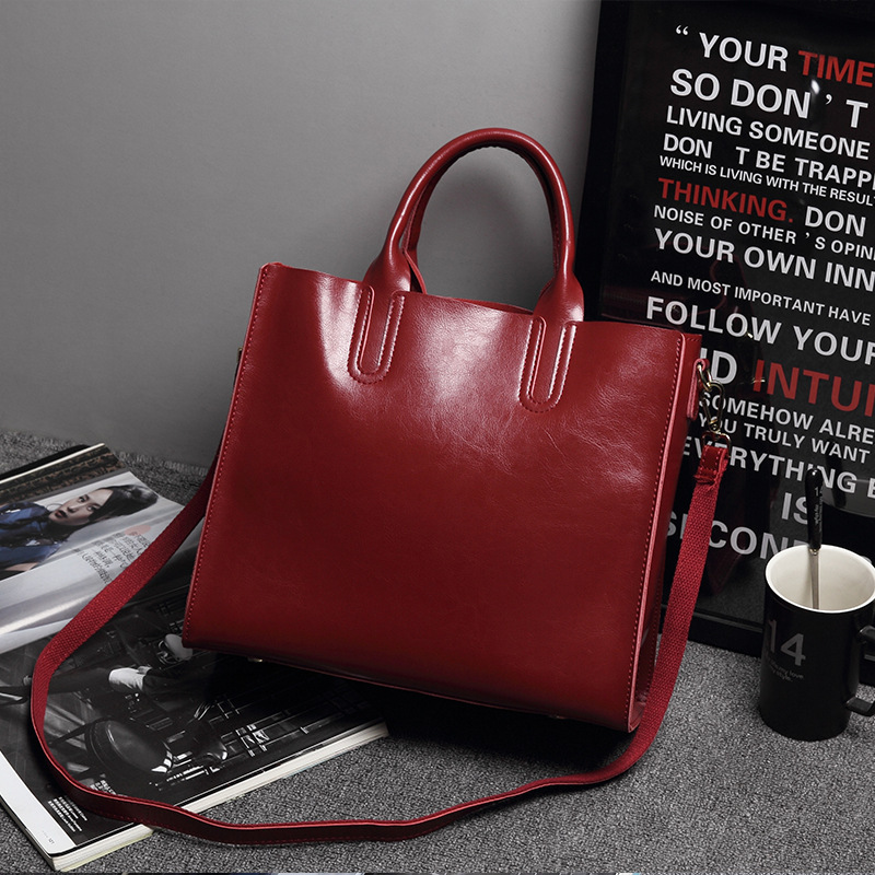 Genuine Leather Woman Package Will Capacity Single Shoulder PackageGenuine Leather Woman Package Will Capacity Single Shoulder Package