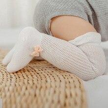2019 Newborn Baby Socks Summer Thin Section Mesh Breathable Ice Silk Cotton Baby Over The Knee Socks Bow Little Girl Stuff цена 2017