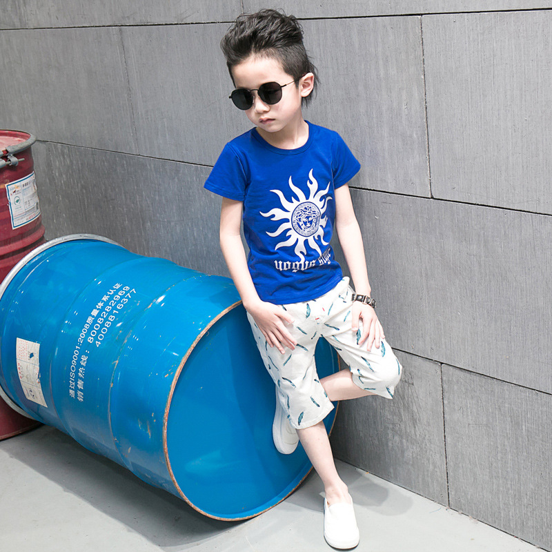 boys shorts 2018 fashion Leaf pattern Kids boys shorts summer children chothing kids pan ...