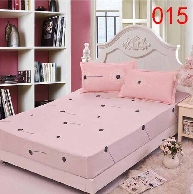 Dandelion Polyester Fitted Sheet Single Double Bed Sheets Fitted Cover Twin  Queen Mattress Cover Bedspread Bedsheet