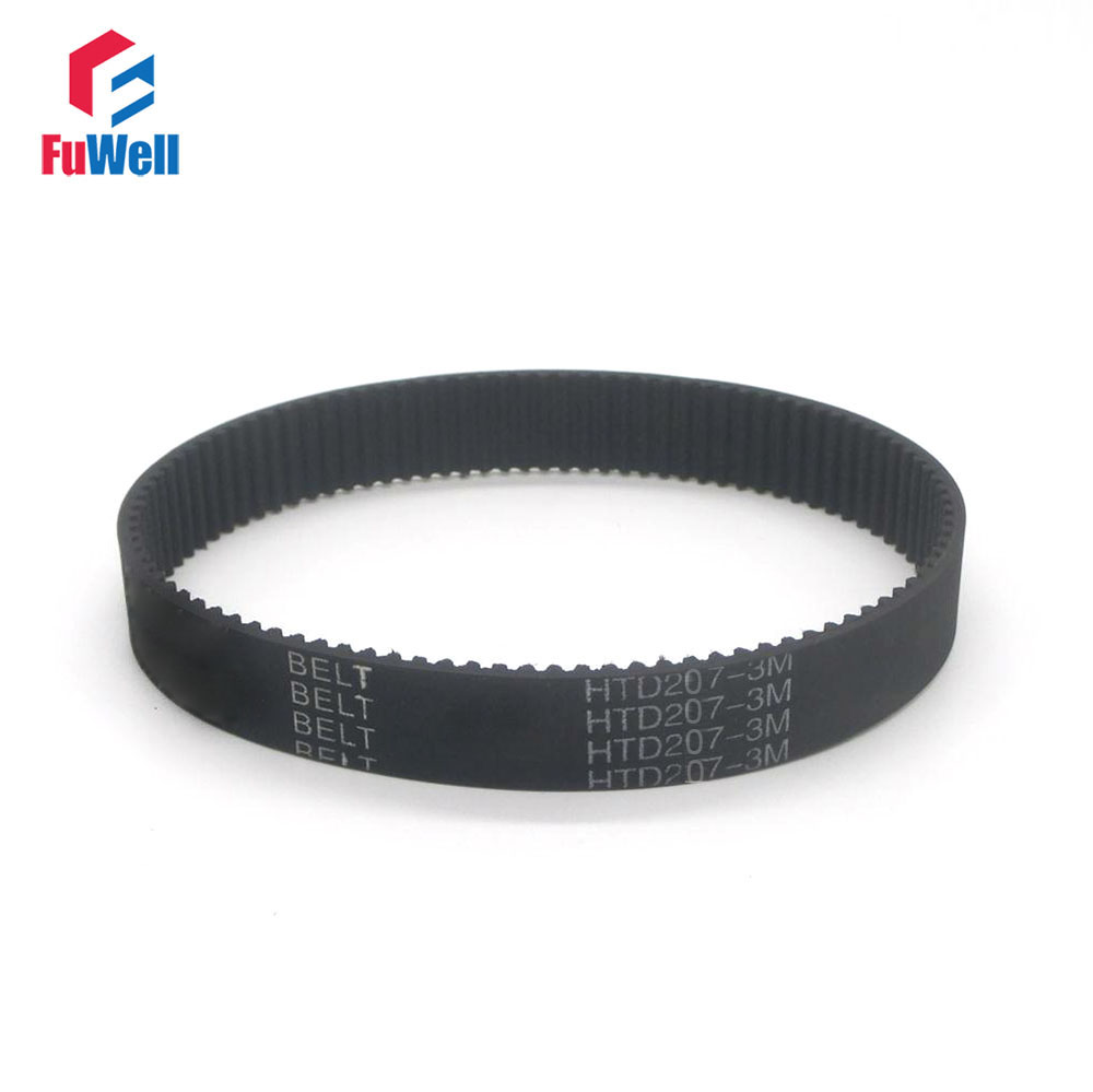 HTD 3M Timing Belt 207-3M 6/9/15mm Width 207mm Length Transmission Pulley Belt Closed Loop 69Teeth Rubber Toothed Gear Belt катушка нахлыстовая loop multi 6 9