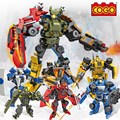 Children COGO 6 IN 1 19 Forms Warriors Sword Robots 1032 Pieces Building Blocks & Bricks DIY Toys For xmas Gift