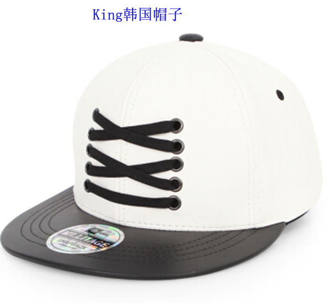f6466352542 2015 New Women Personalized PU Leather Lacing Baseball Snapbacks Hats and  Cap Casual Cloth Cap Lace-up Men Baseball Flat Hat