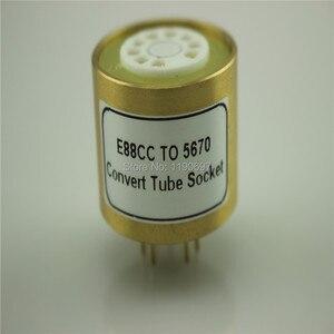Image 4 - 1PC E88CC 6922 6DJ8 6N11 (Top) TOT 5670 6N3 (Bodem) elektronische Buis DIY Audio Vacuümbuis Adapter Socket Converter Gratis Verzending