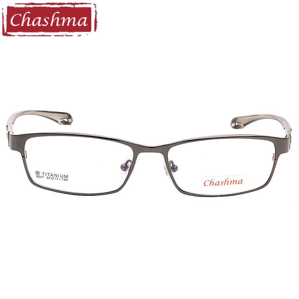 8b8b063d110 ... Chashma Brand Sport Stylish Eyewear Men Full Rimmed Titanium Frame TR  90 Flexible Temple Transparent Lenses ...