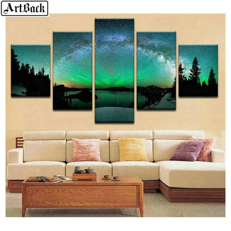 5 spelled diamond painting tree autumn landscape full square drill diamond embroidery living room decorative painting in Diamond Painting Cross Stitch from Home Garden