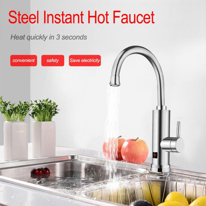 Instant Electric Hot Water Heater Faucet Instantaneous Water Heater Kitchen Hot Tap AU Plug with Electric Leakage Protector au plug ac 220v 10a electric 3 wires leakage protection cable for water heater