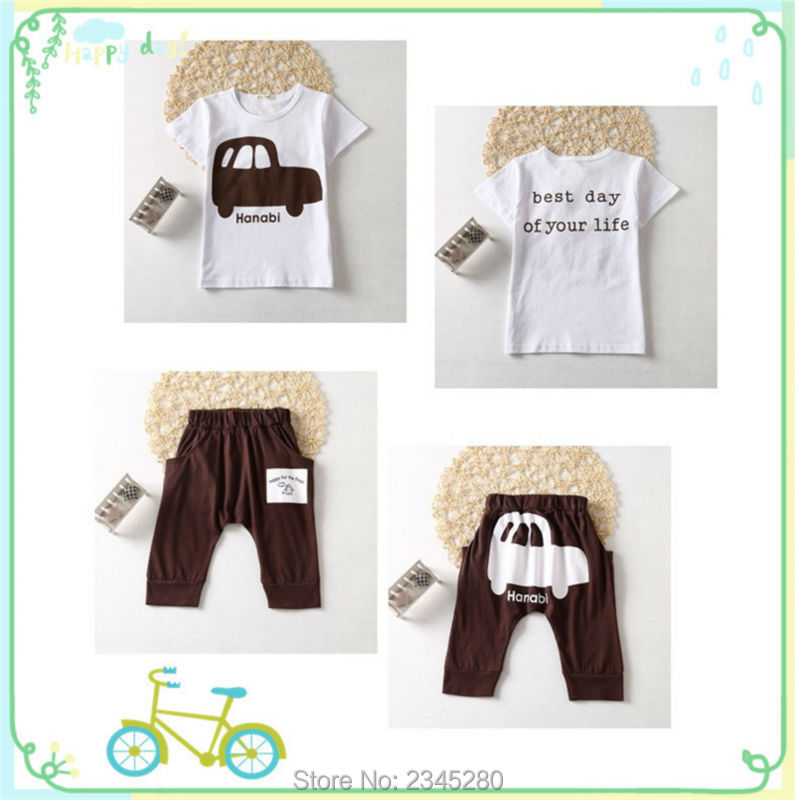 Kids Clothes Children Sets Clothing Boys Girls Clothes Car Print T Shirts Suits Short Sleeve Sport Suit Summer Kids Clothes Boys12
