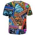Yugioh Карты Тройник тенниски 3d все-над печатными футболки летняя мода одежда топы тис повседневная пиджаки рубашки