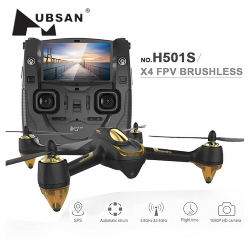 Hubsan H501S X4 Pro 5.8G FPV RC Drone with Camera HD 1080P GPS RTF Remote Control Helicopter Elfie RC Quadcopter Follow Me Mode^ hubsan h301s spy hawk 5 8g fpv 4ch rc airplane rtf with gps module