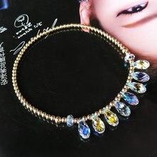 Anklet female Korean fashion Austria crystal Anklets foot ring foot accessories send bestie girlfriend birthday gift