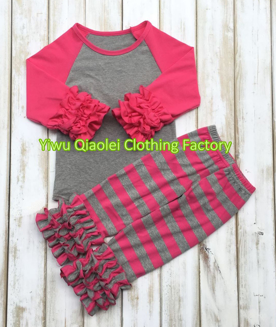 5917e177a 2017 Hot sale autumn winter red icing tops and striped pants sets ...