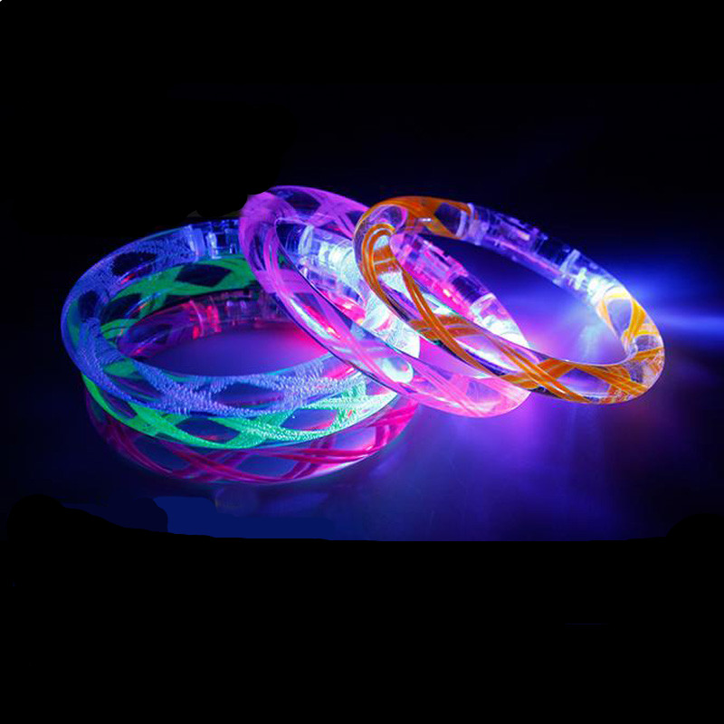 Event & Party Led Dance Hot Sale 25pcs/lot Plastic Led Wristband For Party Club Suprise Glowing Thread Colorful Bracelet Toy Girl Boy Gift Factories And Mines