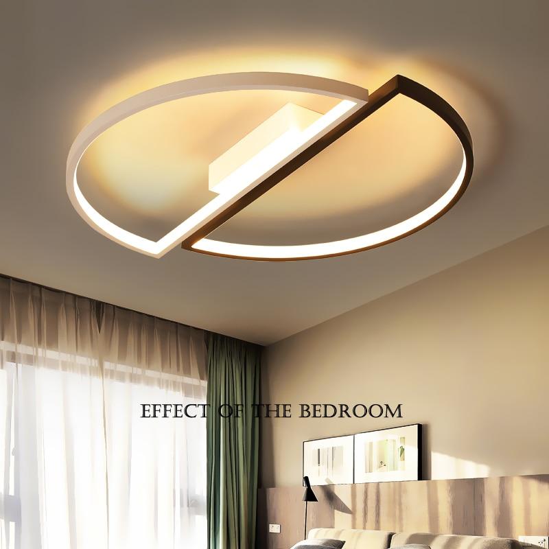 Round modern led chandelier lights for living room bedroom Study Room Black+White surface mounted led chandelier Fixtures
