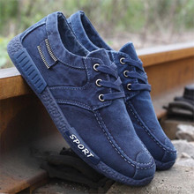 laikihan New high quality mens canvas shoes casual washed denim fashion wild students sneakers  38--45