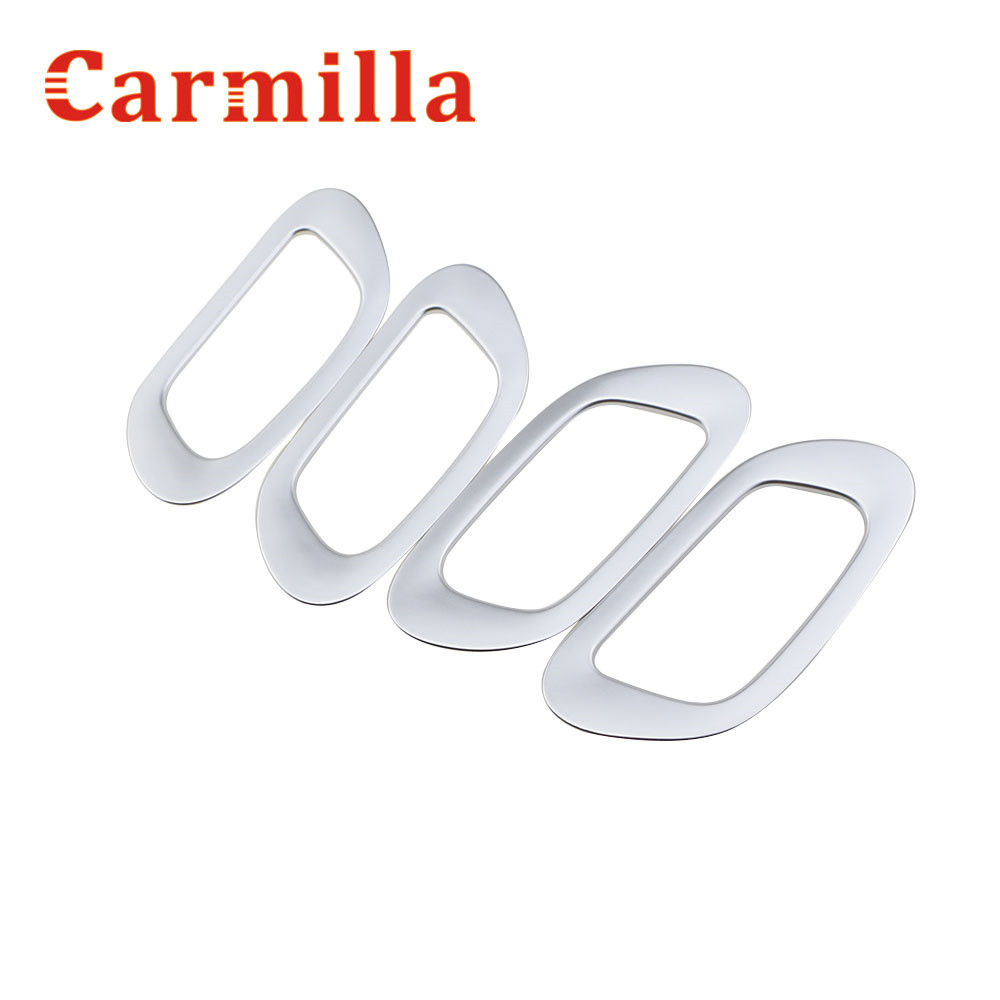 Carmilla Car Internal Chrome 4pcs/set <font><b>Door</b></font> <font><b>Handle</b></font> Frame Sticker for <font><b>Honda</b></font> <font><b>HRV</b></font> HR-V Vezel 2013 2014 2015 2016 Accessories image