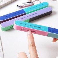 Креативная печать Шлифовальная Пилка Для ногтей песок шестисторонняя полировка пилка для ногтей инструмент маникюрные инструменты пилки для ногтей