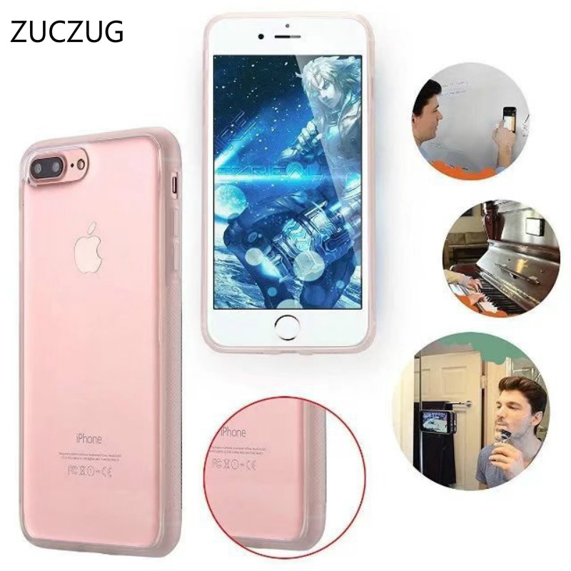 ZUCZUG Anti Gravity Luxury Coque Case For Samsung Galaxy S8 Plus S6 S7 Edge Note 8 Case For Iphone X 7 6 s 6s 8 Plus 5S Cover ...