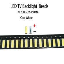 Yongyuekeji 100 шт/лот новый smd led 7020 3 в 150 мА лампа бусины