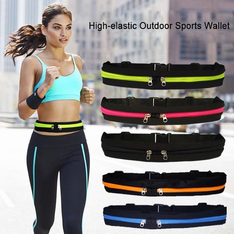Bum-Bag Waist-Pack Sports-Bag Phone Cycling Dual-Pocket Fitness Waterproof Anti-Theft