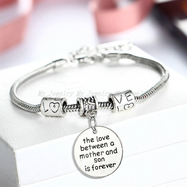 Love Between Mother And Son Bracelet Family Gifts S Day Jewelry Bracelets Mom Charm Souvenirs Chain