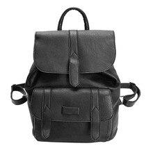 2017, Новая мода рюкзак женские кожаные однотонная винтажная школьная сумка рюкзаки для девочек-подростков путешествия рюкзак Bolsa Mochila