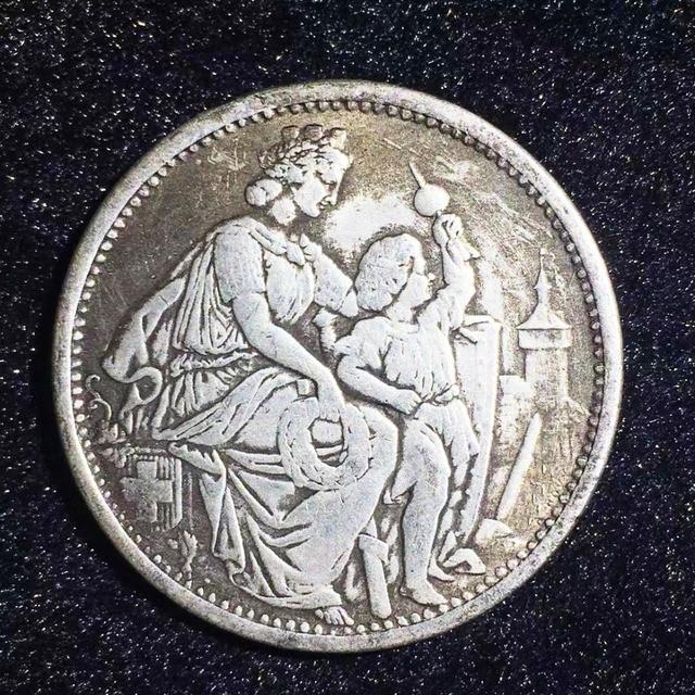 Colección de monedas conmemorativas de monedas de plata de 5 F de 1865