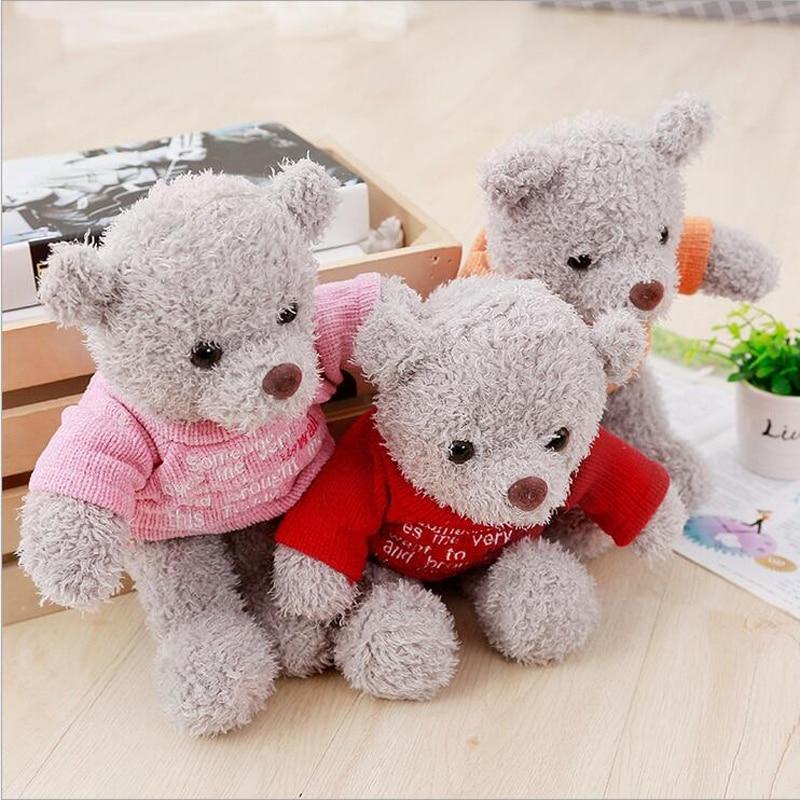 35cm Cute Teddy Bear Doll Soft Plush Toys Stuffed Animal Small Bear Plush Doll Girls Birthday Gift Children Toy in Stuffed Plush Animals from Toys Hobbies