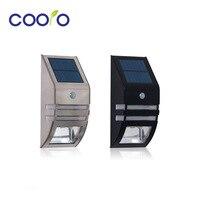 Solar Light Solar Power Recharge Stainless PIR Human Motion Sensor Lamp IP65Waterproof Outdoor Garden Yard Led