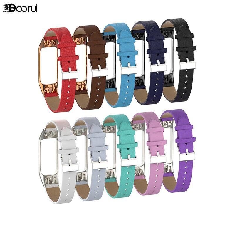 BOORUI de mi banda 3 Correa accesorios para Xiaomi mi banda 3 reemplazo de Anti-perdido deportes cinturón con caja de Metal