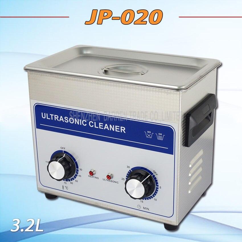 1PC  Hot sell  AC 110v/220v timer&heater JP-020 Ultrasonic cleaner 3.2L hardware accessories motor washing machine hot new nc4d jp dc5v nc4d jp dc5v nc4d jp dc5v nc4d dc5v 5vdc 5v dip14