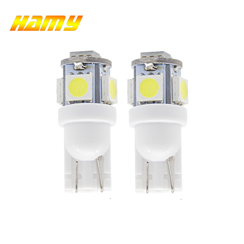 2x T10 W5W Car LED Interior Dome Reading Bulb Turn Signal Light Wedge Side Clearance Brake License Plate Luggage Trunk Lamp 12V