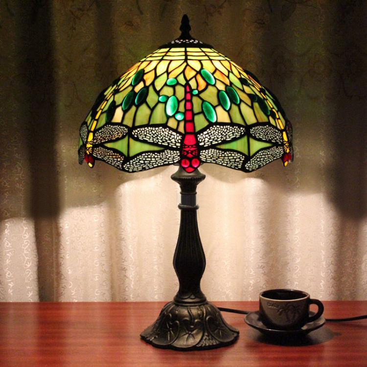 12 inch table lamp tiffany vintage artistic stained glass for 12 inch bedside table