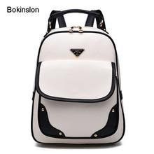 Bokinslon женская сумка универсальная из искусственной кожи Колледж ветра девушка рюкзак путешествия Модная молодежная двойная сумка